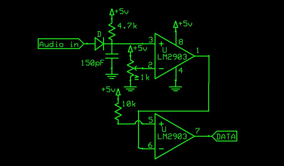 FM Data Receiver Module for Micro-controllers - schematic
