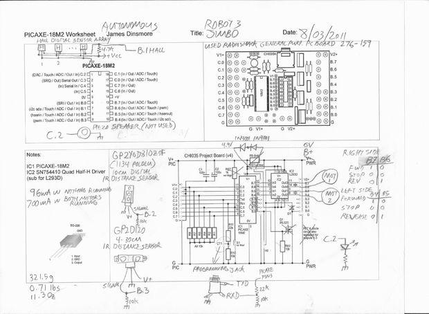 Robot Autonomous Sensor Platform - schematic