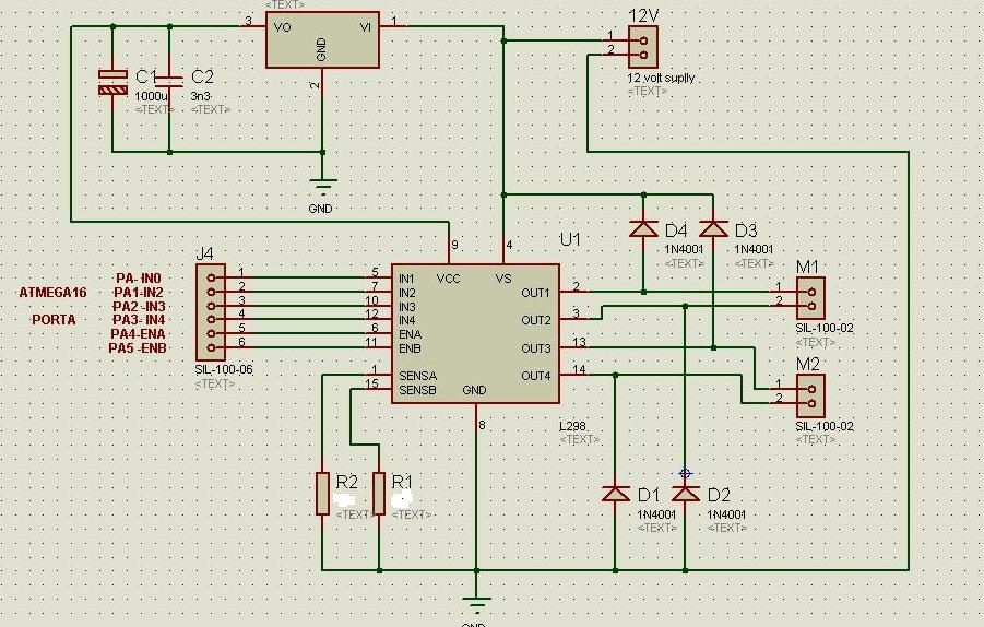 Bipolar Stepper Motor - schematic