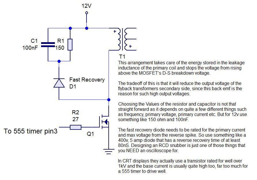 555 timer based plasma speaker - schematic