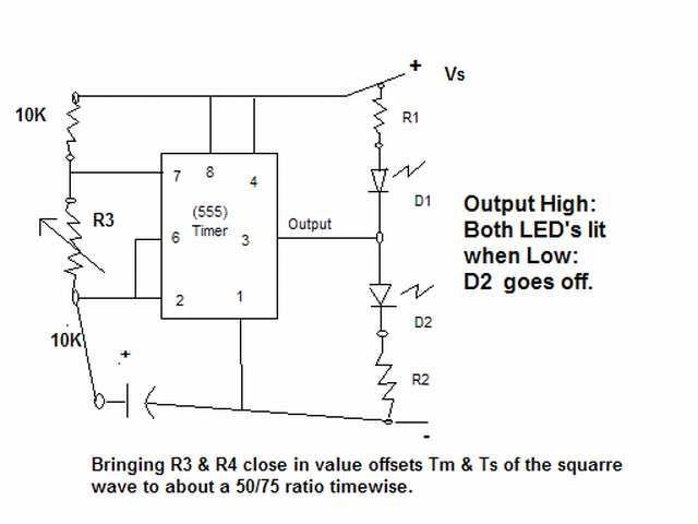 555 timer as a flip-flop - schematic