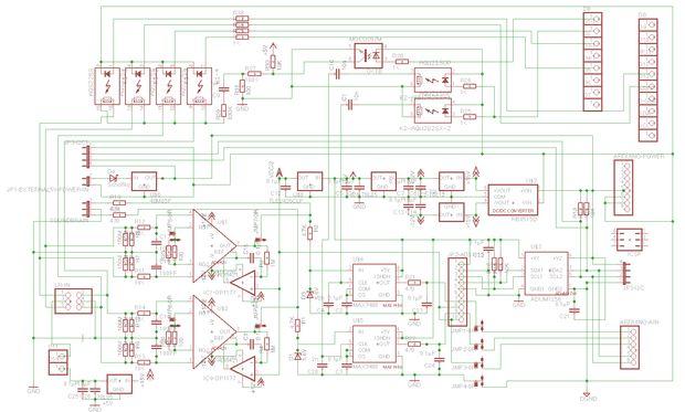 16 bit brain wave interface for ArduinoRaspberry Pi - schematic