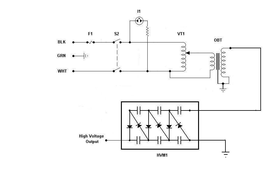 Variable High Voltage Power Supply - schematic