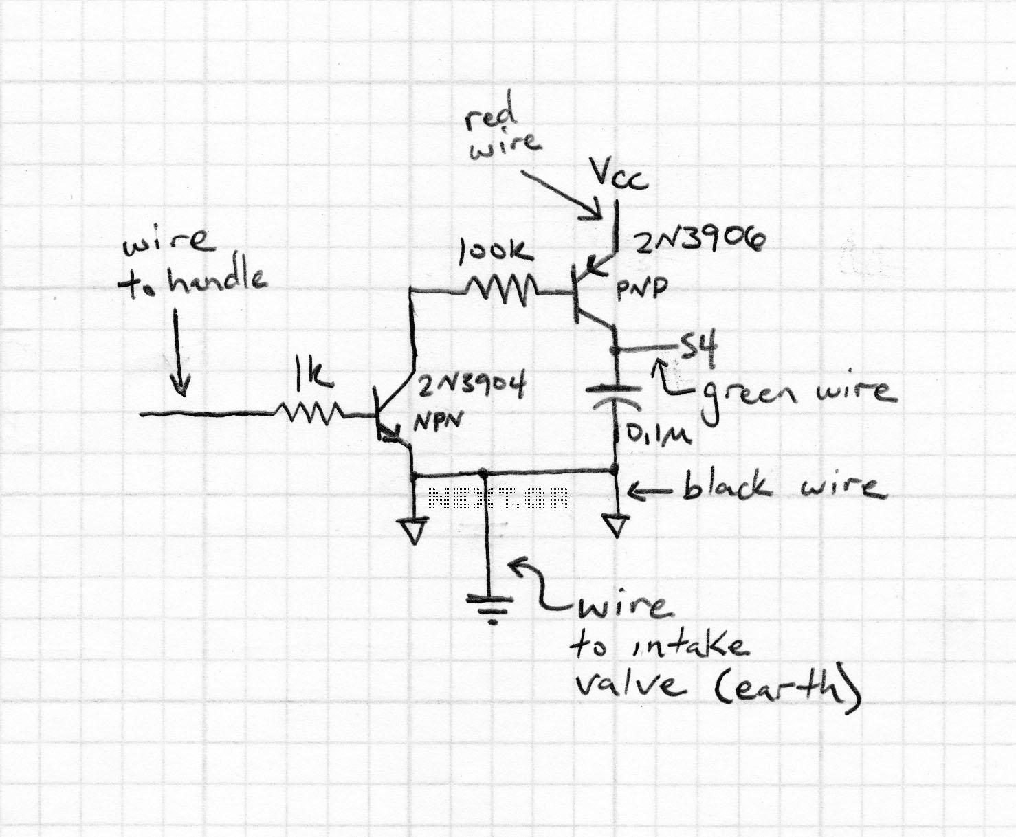 supercapacitor usb light - schematic