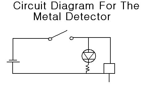 555 metal detector - schematic