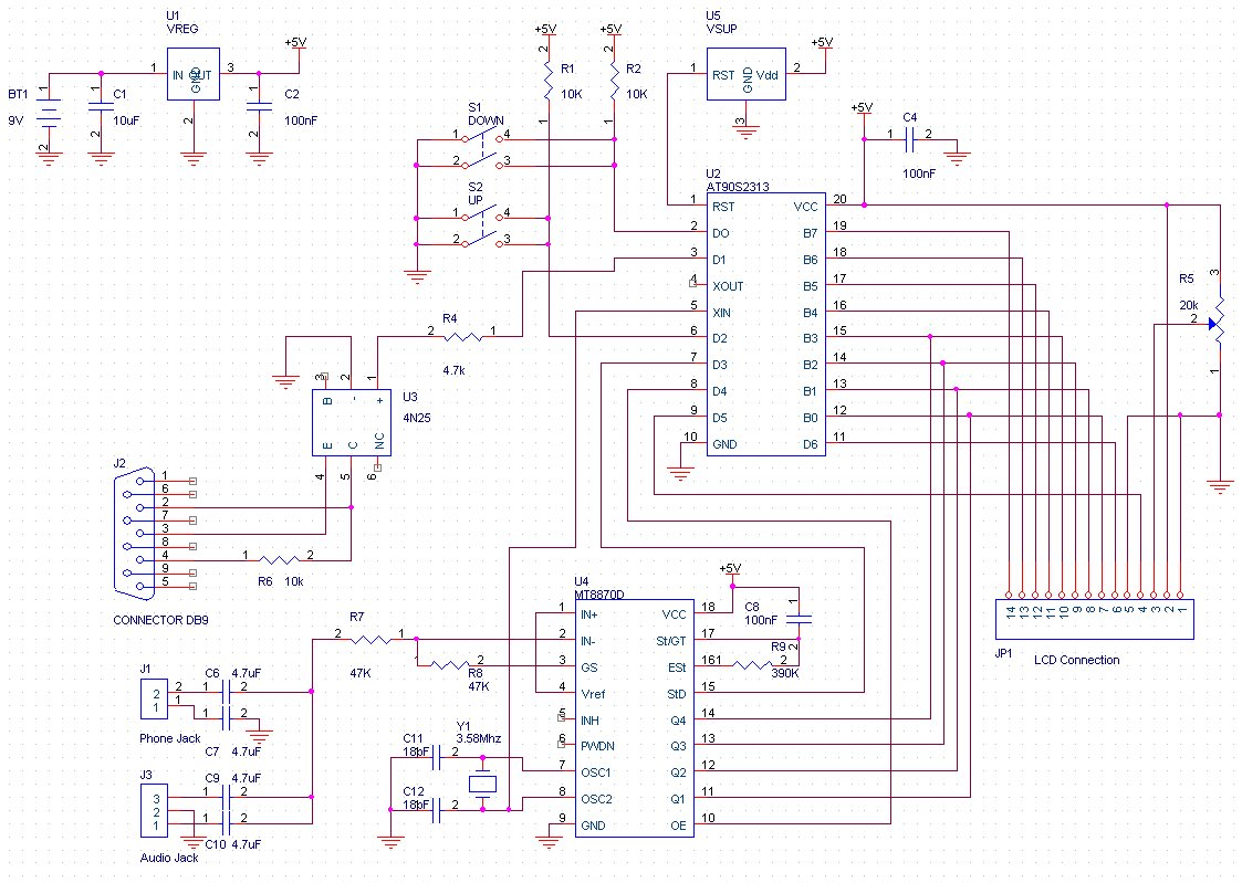 DTMF Decoder 2 - schematic