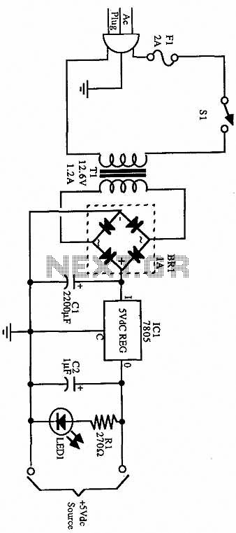 5 vdc power supply schematic
