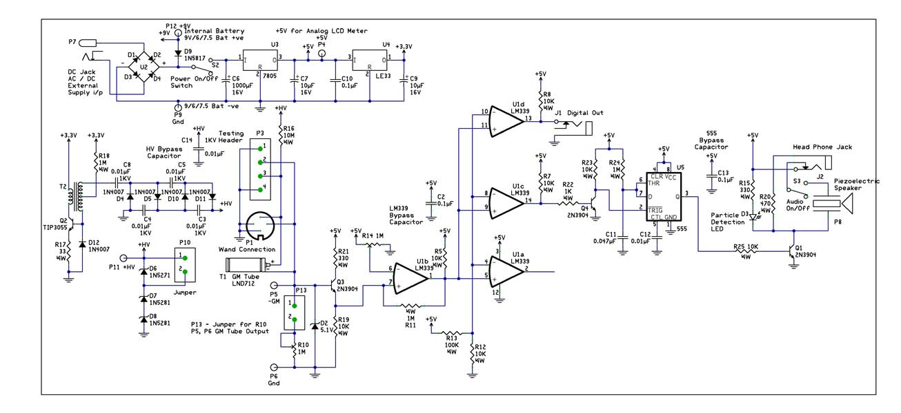 geiger counter schematic help