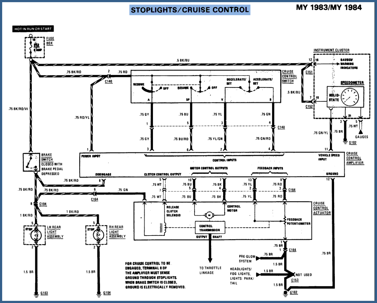 Electronic Circuits Page 393 1991 350sdl Engine Diagram Mercedes The Actuator My Cruise Control Worked Rebuilt Garage