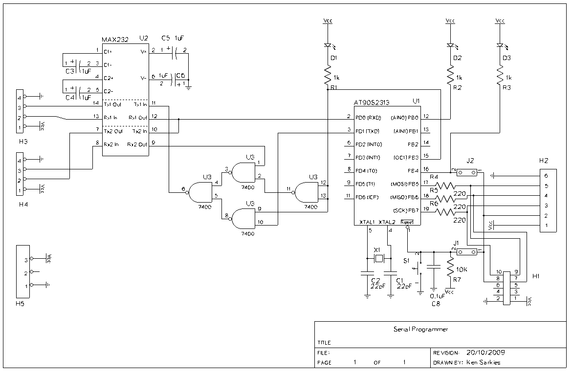 Results Page 7 About Atmel Programmer Searching Circuits At Icsp In Circuit Serial Programming Board Based On Pic16f84 Avr Bootloader And
