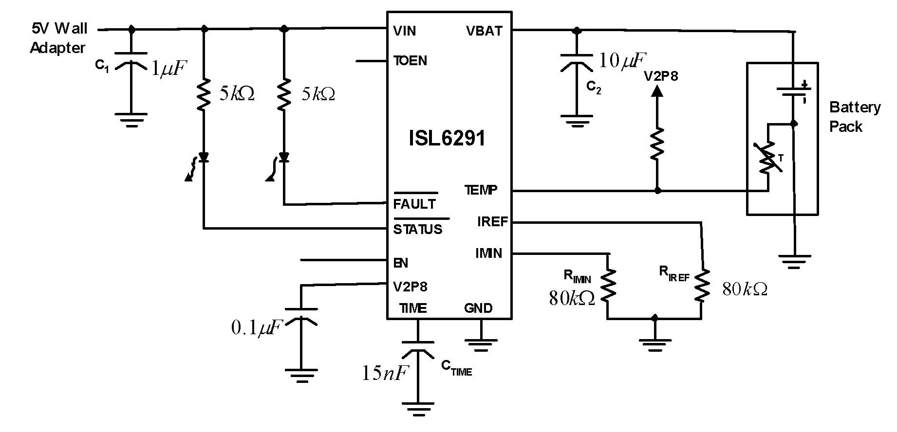 isl6291 li-ion  li polymer linear battery charger under repository-circuits