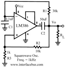 Op-Amp Pulse Generator Circuits - schematic