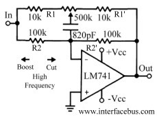 Audio Equalizer Circuits - schematic