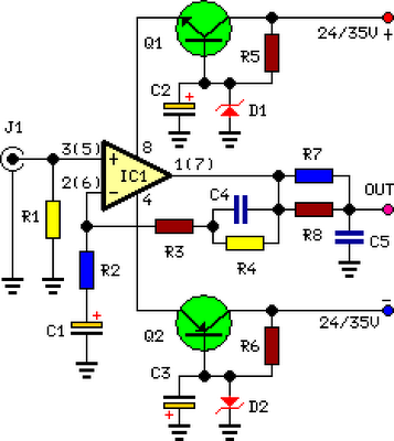 Phono Preamplifier - schematic
