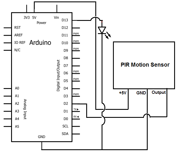 Arduino Motion Detector Circuit Under Repository Circuits