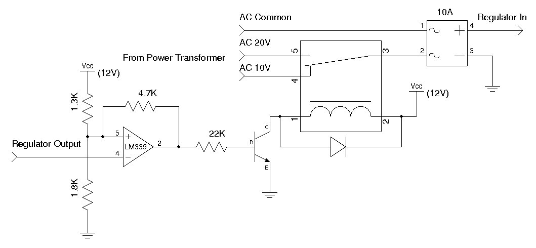5A Lab Power Supply With Digital Readout - schematic