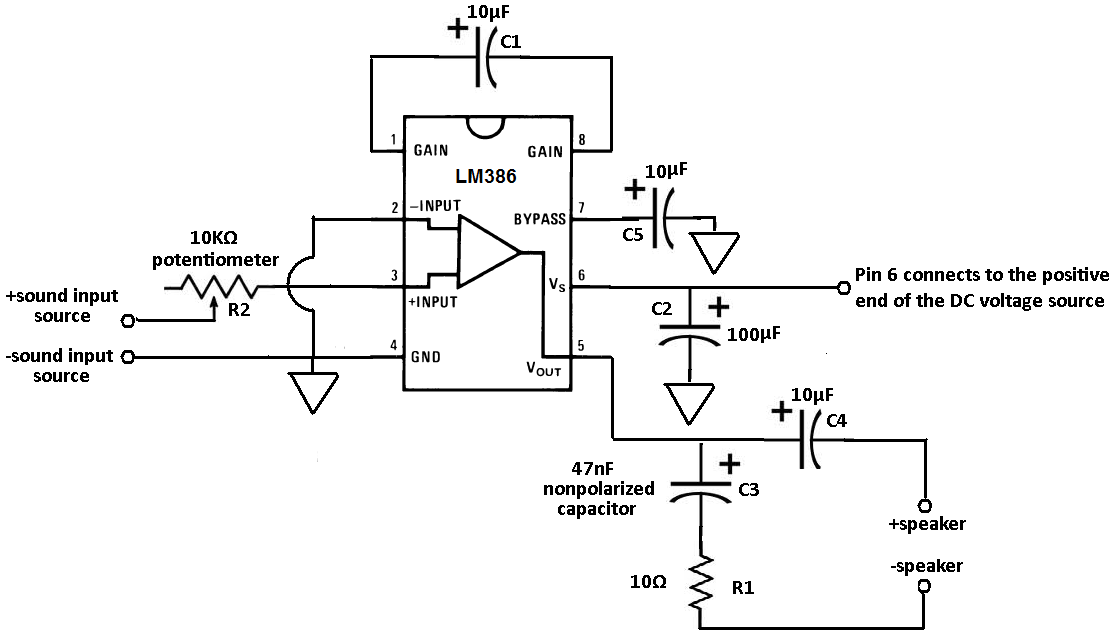lm386 audio amplifier circuit related keywords