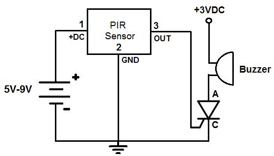 motion detector alarm circuit under repository circuits. Black Bedroom Furniture Sets. Home Design Ideas