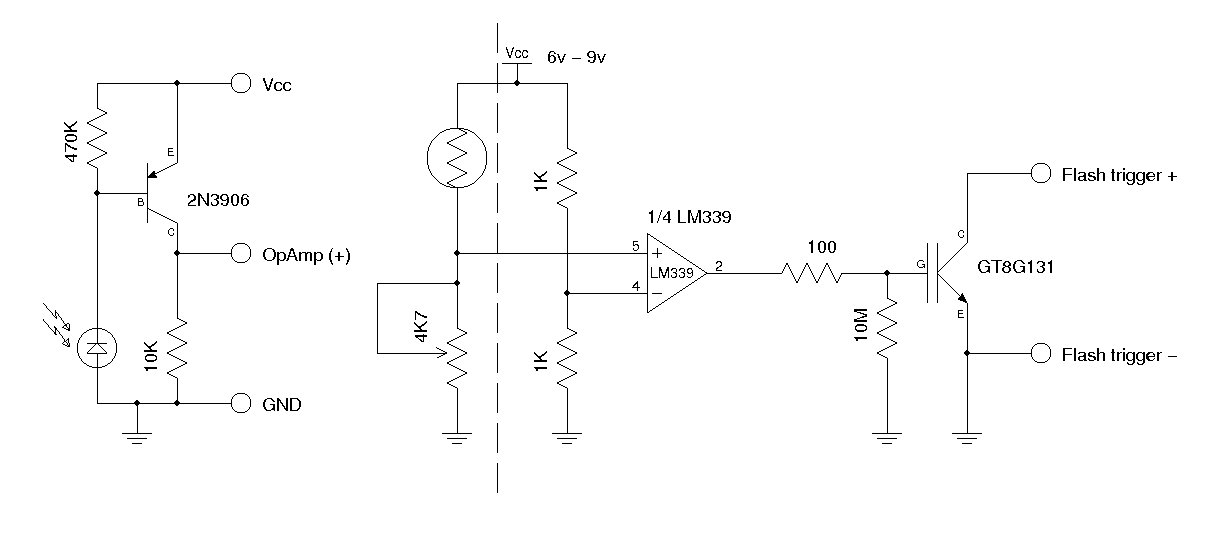 Synchronous Camera Flash Trigger Using IGBT - schematic