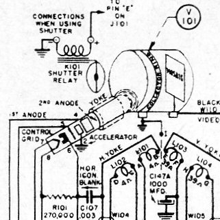1945 RCA CRV-59AAE Iconoscope Camera - schematic