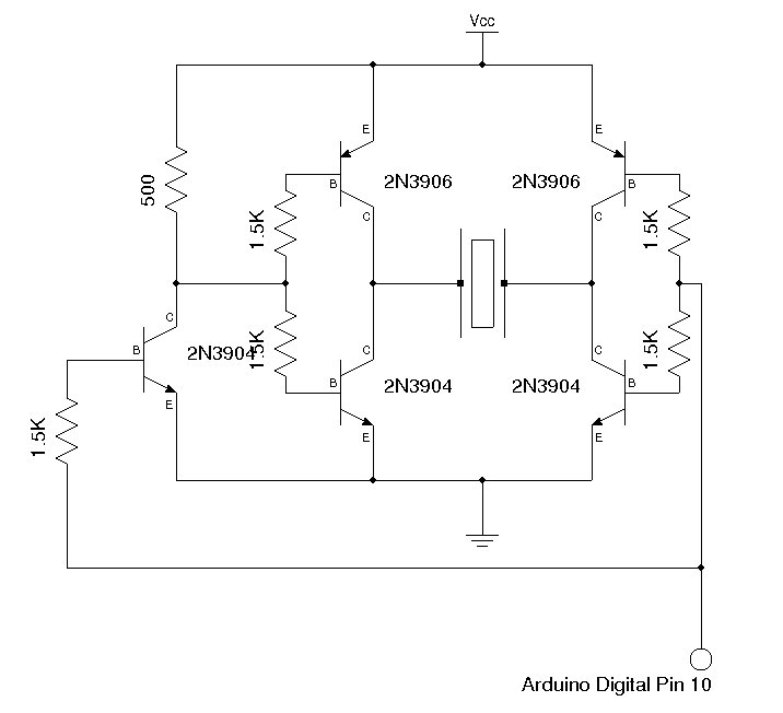 A Sensitive DIY Ultrasonic Range Sensor - schematic