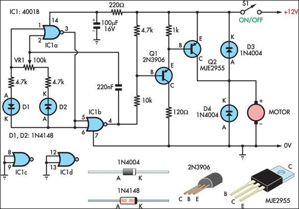 Motor control circuit page 14 automation circuits next two basic motor speed controllers sciox Choice Image