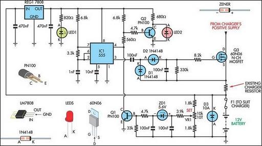 Battery Charger Regulator - schematic