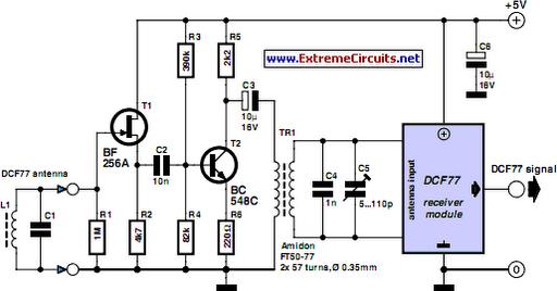 DCF77 Preamplifier - schematic