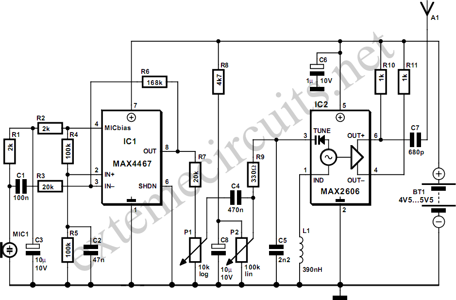fm_wireless_microphone_circuit_diagram 2 microphone circuit page 6 audio circuits next gr RadioShack Wireless Microphone at edmiracle.co