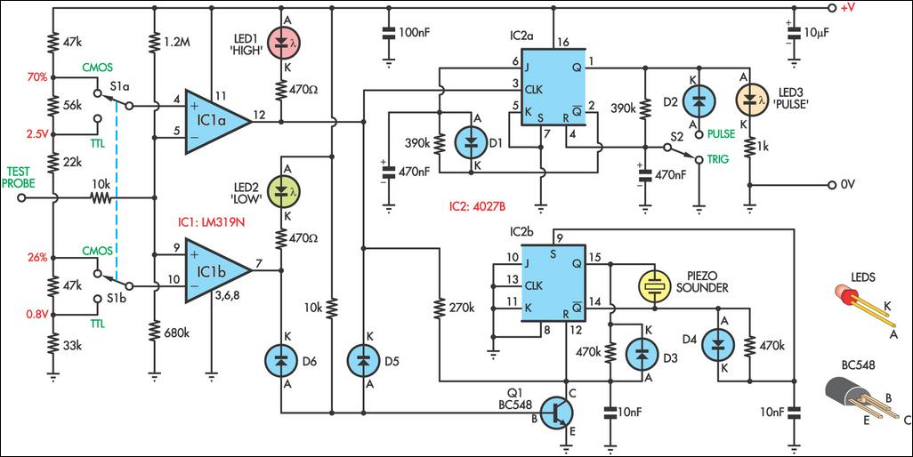 logic probe with sound circuit diagram 2 logic circuit page 4 digital circuits next gr Interconnection Diagram at gsmportal.co
