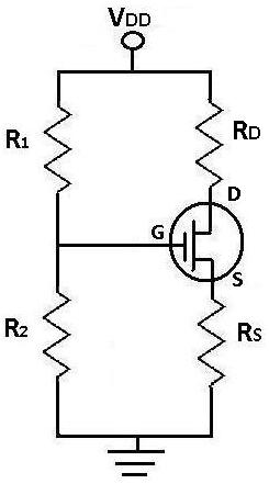 DC Analysis of a MOSFET Transistor Circuit - schematic