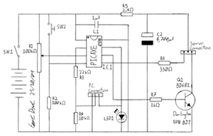 Programmable time-lapse camera controller - schematic