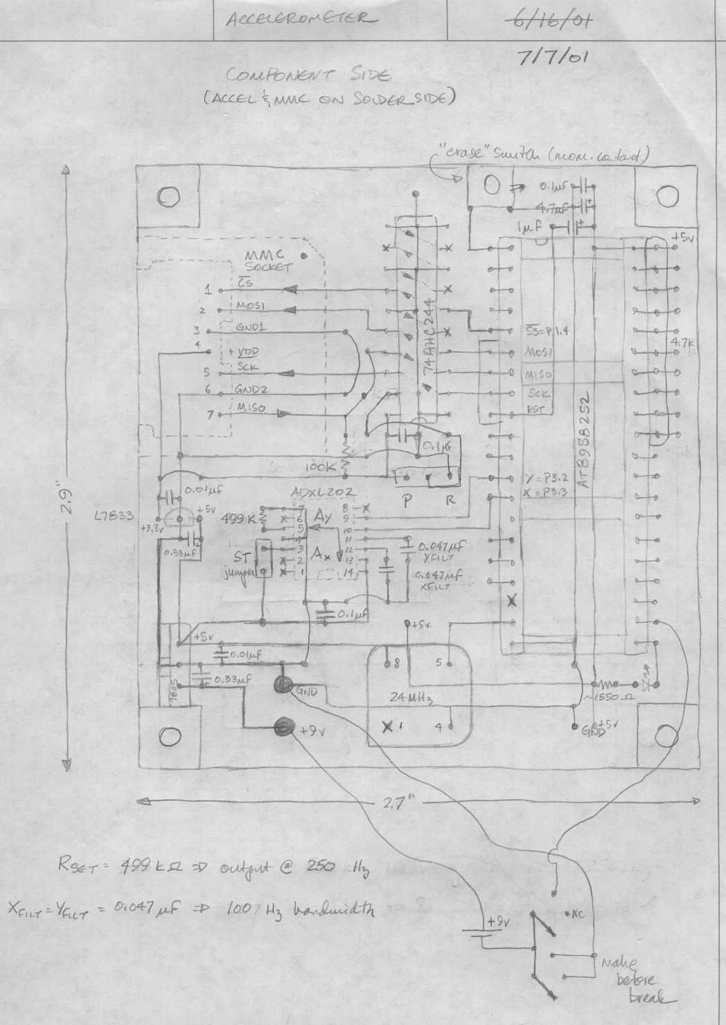 Accelerometer Schematic - schematic