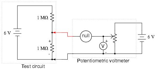 Potentiometric voltmeter - schematic