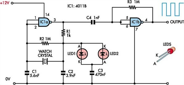 safe oscillator circuit diagram for watch crystals 2 crystal oscillator circuit page 3 oscillator circuits next gr Ford Electronic Ignition Wiring Diagram at fashall.co