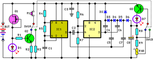 Self-Powered Fast Battery Tester Schematic - schematic