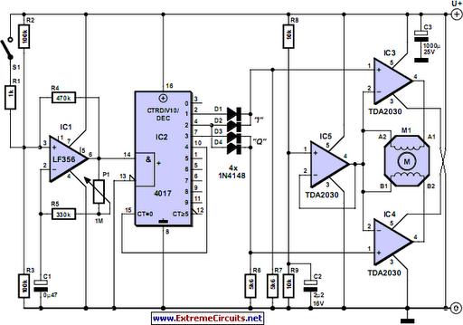 Stepper Motor Controller - schematic