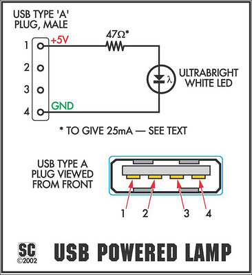 The Itsy-Bitsy USB Lamp under Repository-circuits -46874 ...