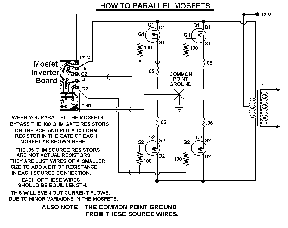1000 watt power inverter schematic - schematic