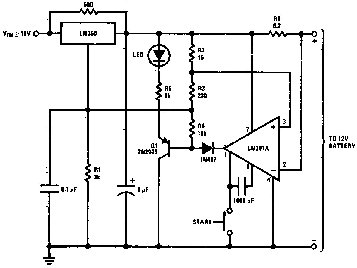 DC 12V Battery Charger Circuit Schematic