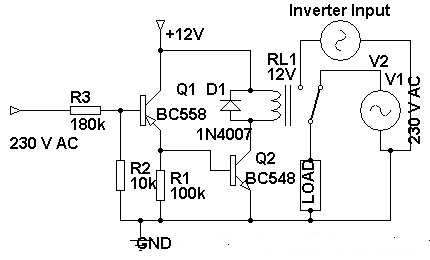 230 Volt AC To Inverter SwitchingCircuit L23859