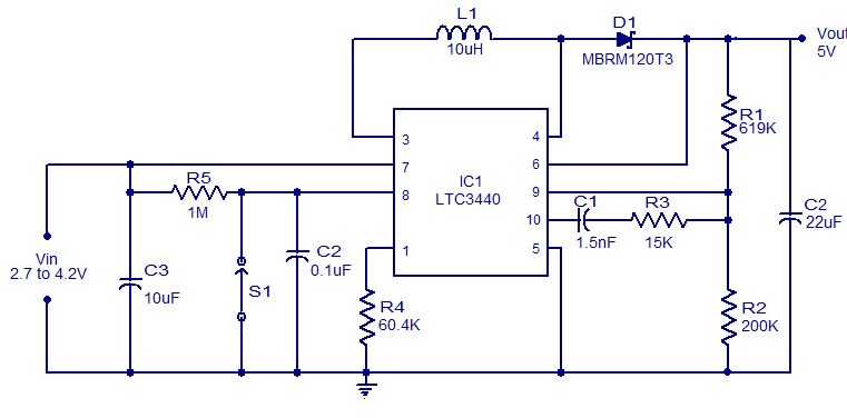 Power supply page 11 power supply circuits next 5v boost converter using ltc3440 ccuart Image collections