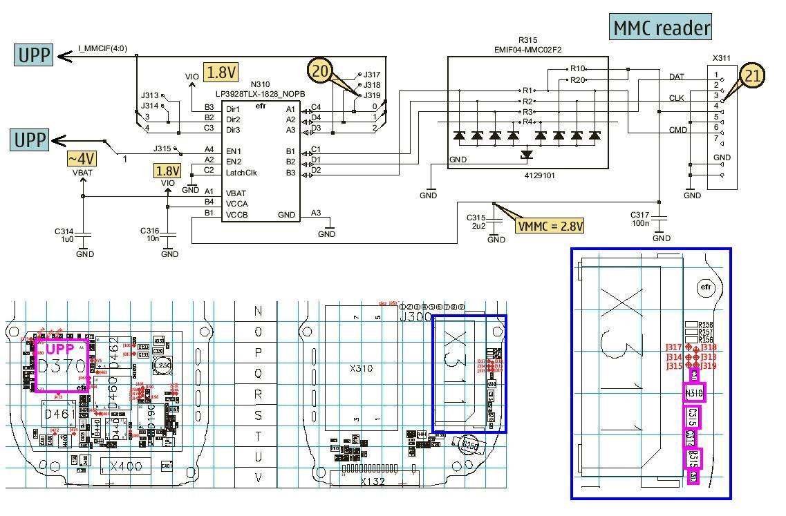 Nokia 7610 MMC Corrupt Problem Picture Help - schematic