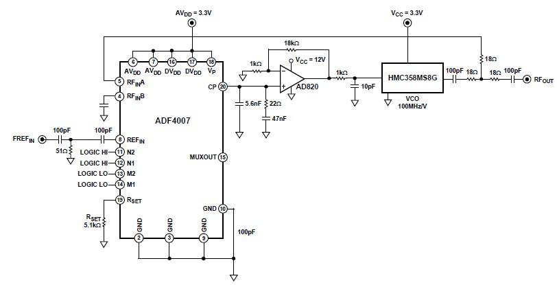 audio oscillator audio circuits next grschematic diagram adf 4007 6 7ghz local oscillator circuit