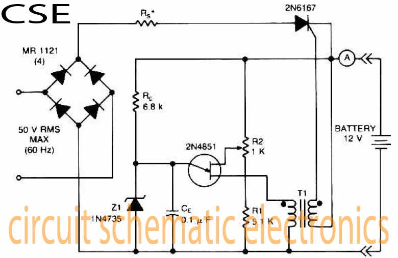 Variable charger circuit Schematic Diagram - schematic