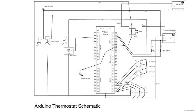 Arduino Thermostat - schematic