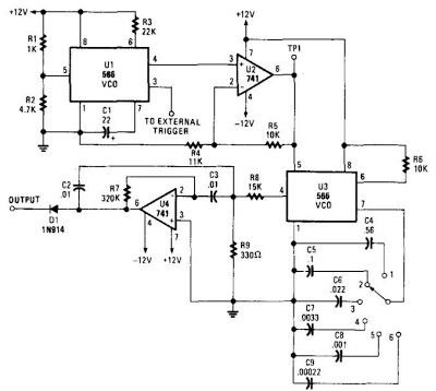 Simple Audio Filter Analyzer Circuit - schematic