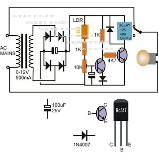 circuits > Light Activated Day Night Switch Circuit l23884 - Next.gr