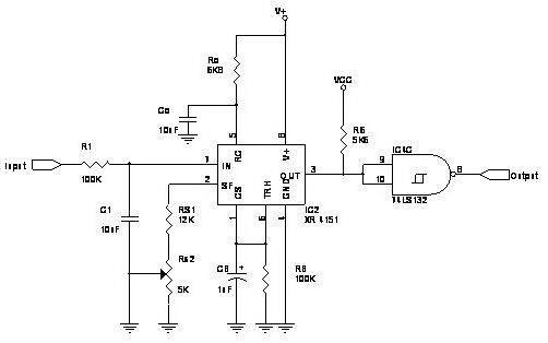 Voltage to frequency converter - schematic