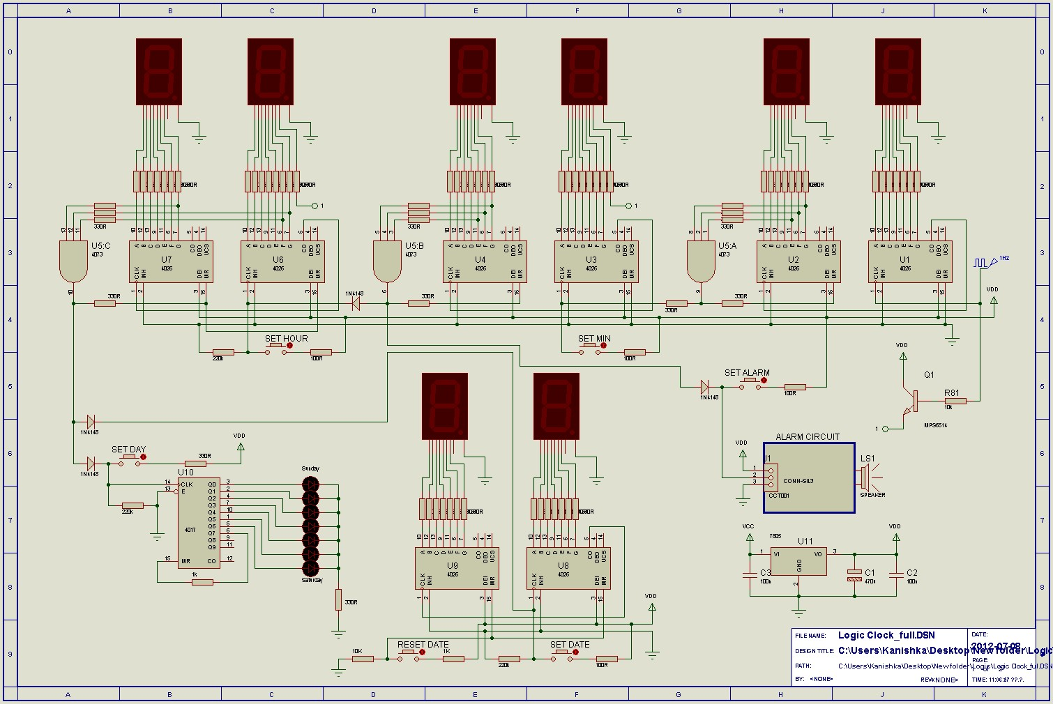 Logic circuit page 4 digital circuits next 24hr clock using logic ics pooptronica